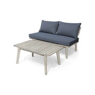 Balmoral Outdoor Acacia Wood Loveseat And Coffee Table By Christopher Knight Outdoor Cushions Patio Furniture Patio Furniture Cushions Outdoor Furniture Plans