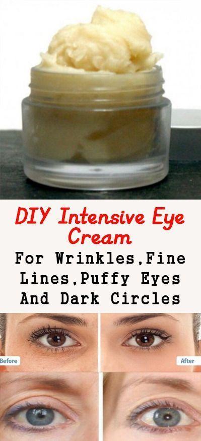 Home Made Dark Circles And Wrinkle Eye Cream Homemade Wrinkle