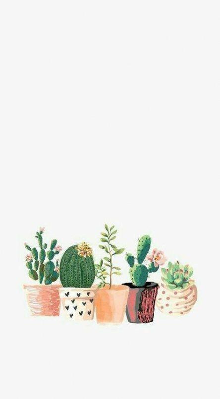 59 Ideas For Plants Illustration Pattern Cactus Art Plant Wallpaper Iphone Wallpaper Cute Wallpapers