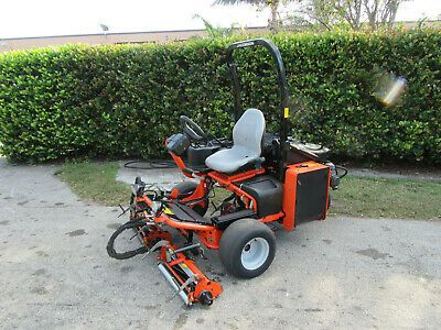 Details About Jacobsen Gp 400 Greens Tee Greens Mower Kubota Diesel 3 Wheel Drive W Baskets Green Tee Kubota Diesel