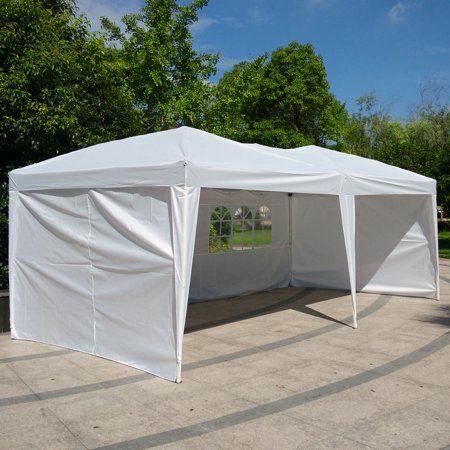 Zimtown 10 X 20 Outdoor Ez Pop Up Party Tent Patio Wedding Canopy Gazebo Pavilion Car Tent W 4side Walls Outdoorwedding Patio Tents Patio Wedding Party Tent
