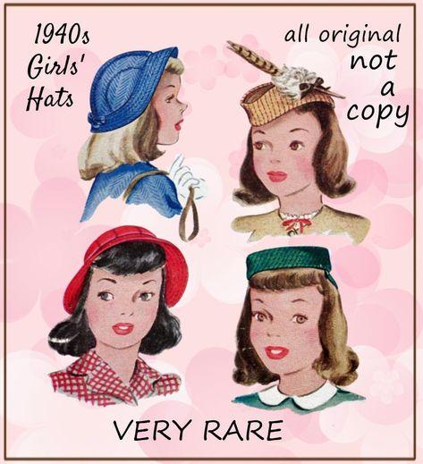 Misses/' Hat Vintage Butterick Charming Bonnet Type Hats Fabric Sew Pattern # 3957 Reprint Copy