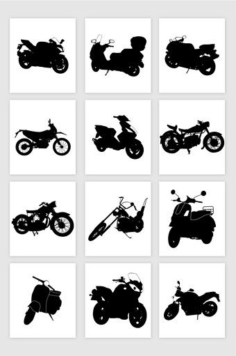 12 Vector Motorcycle Silhouettes Png Images Ai Free Download Pikbest Silhouette Png Silhouette Graphic