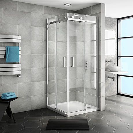 Nova Square Frameless Corner Shower Enclosure 900x900mm Buy At Victorian Plumbing Shower Enclosure Corner Shower Enclosures Corner Shower