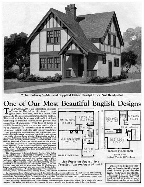Homes Of Today~Sears Kit Houses~1932 | House, Vintage House Plans And  Architecture.