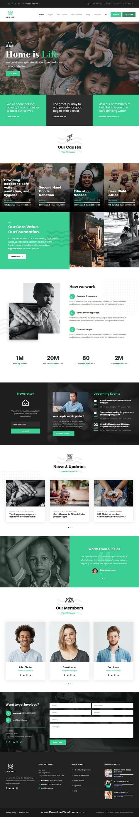 Charity & Donation Responsive Template