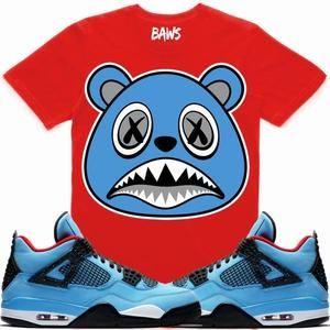 1bde9b5b7939 Baws T-Shirt UNC BAWS Sneaker Tees Shirt - Jordan 4 Travis Scott Cactus Jack