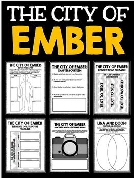 City of Ember Novel Study Unit with Questions and Activities