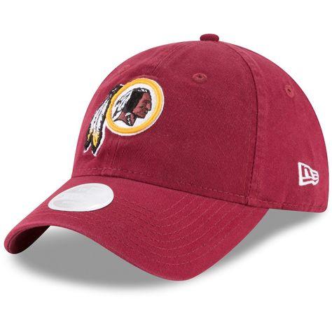 Women s Washington Redskins New Era Burgundy Core Classic Primary 9TWENTY  Adjustable Hat 8c9b66770