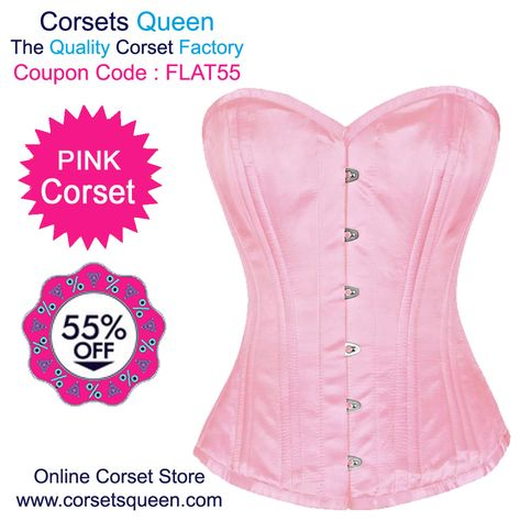 5c9c1835c47 ELEGANT- Baby Pink PVC Authentic Steel Boned Overbust Corset