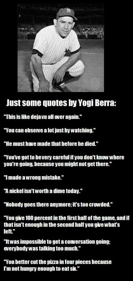 Yogi Berra Baseball Quotes About Quotesgram