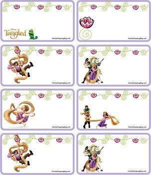 graphic regarding Rapunzel Printable called Reward Tags Tangled, Tangled, Present Tags - No cost Printable Tips