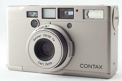 NEAR MINT】 Contax Tix Carl Zeiss Sonnar T* 28mm F2 8 T IX Camera