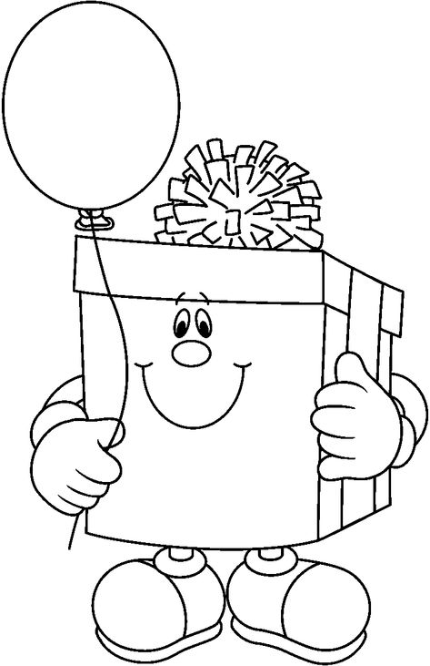 Vierkantgefeliciteerd Birthday Clips Clip Art Coloring Pages For Kids