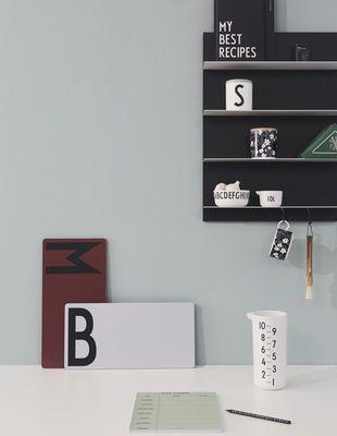 Design Letters Paper Wall Shelves White Black Made In Design