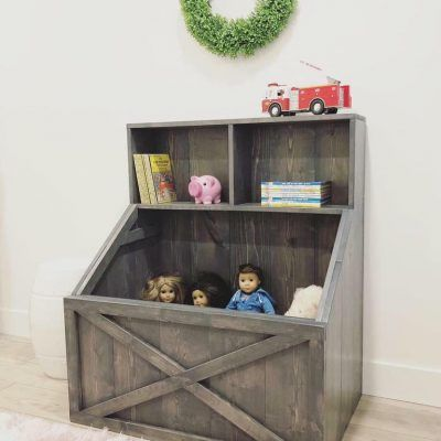 Pdf Plans For Slanted Toy Box Bookshelf By Rustic Meadows Wooden Toy Boxes Toy Box Plans Diy Toy Box