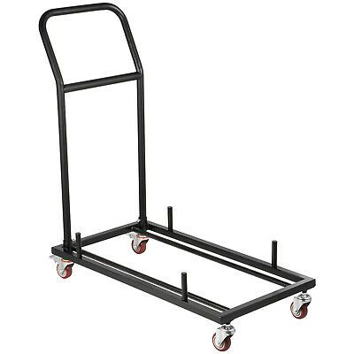 Ad Ebay Folding Chair Cart Dolly For 36 Folding Chairs Black L Shaped Steel Chair Cart Di 2020 Meja Ide