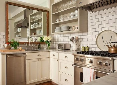No Window Over The Kitchen Sink Hang A Mirror Kitchen Mirror Kitchen Remodel Kitchen Inspirations