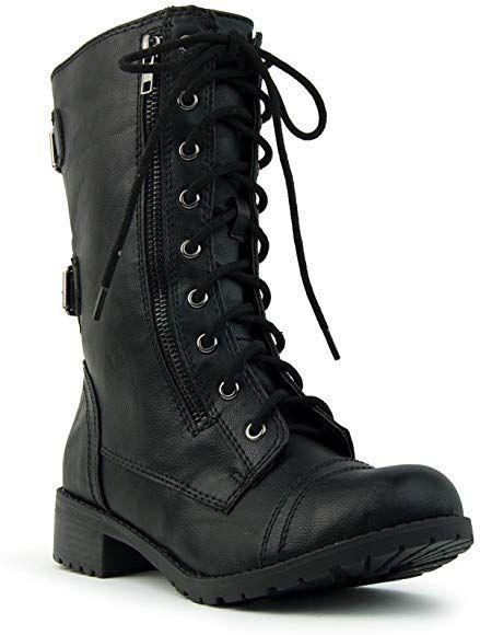 Mid Calf Military Boot