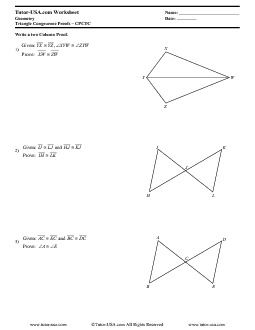 Pdf Geometry Triangles Triangle Proofs Cpctc Worksheets Triangle Worksheet Congruent Triangles Worksheet