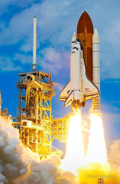 Space Shuttle Discovery and its seven-member STS-120