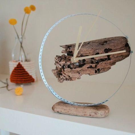 Uhr aus Treibholz basteln