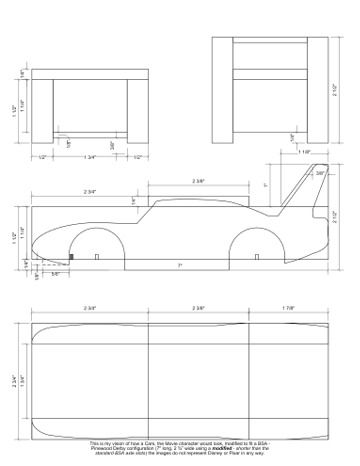 image relating to Free Pinewood Derby Templates Printable identified as Pinterest