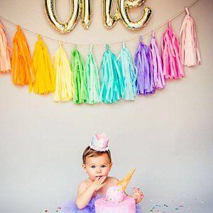 MINI TASSEL GARLAND custom colors newborn first birthday photos backdrop nursery decoration wedding sign highchair aisle marker gift table