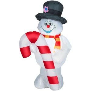 4' Frosty the Snowman with Christmas Candy Cane Airblown Inflatable Holiday Outdoor Yard Display Gemmy http://www.amazon.com/dp/B00920G9YK/ref=cm_sw_r_pi_dp_A12yub0E9ZQ0P