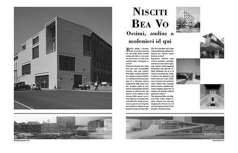 Architecture Magazine Layout Courtney