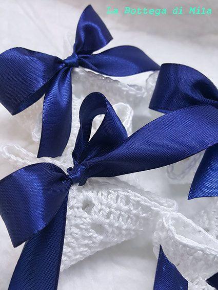 Segnaposto Matrimonio Uncinetto Fai Da Te.Bomboniera Segnaposto Confetti Sacchettino Uncinetto Vintage