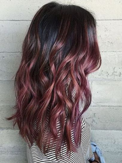 Dark roots are so cute with rose gold hairstyles! in 2019