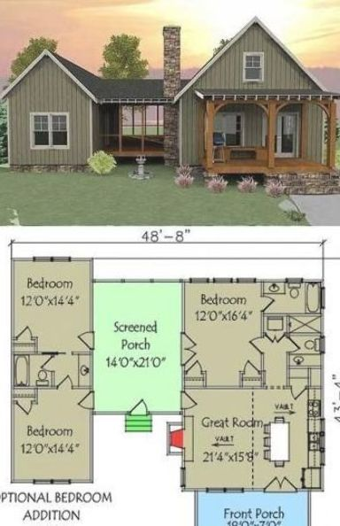 Simple House Floor Plans To Inspire You Top 15 Small Houses Tiny House Designs Floor Plans In 2020 Vacation House Plans Small House Layout Dog Trot House Plans