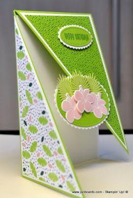 Janb Handmade Cards Atelier Diagonal Fold Card Fancy Fold Card Tutorials Shaped Cards Fancy Fold Cards