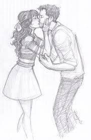 Resultado De Imagen De Dibujos De Parejas Enamoradas Besandose A Lapiz Cute Couple Drawings Couple Drawings Sketches