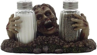 Amazon.com: Graveyard Zombie Glass Salt and Pepper Shaker Set Figurine Sculpture Halloween Decoration & Decorative Bar or Kitchen Tabletop Accent and Gothic Gifts: Home & Kitchen