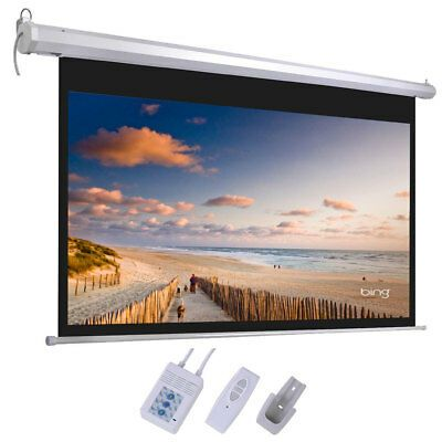 Sponsored Ebay 92 16 9 Motorized Projector Screen Projection 80 X 45 With Remote Screw Hooks Projector Screen Projection Screen Ceiling Projector