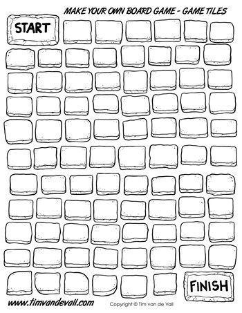 Free Board Game Tiles Black White Board Game Template Free