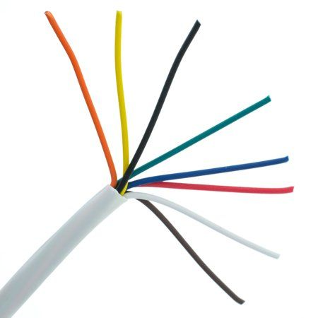 Low Voltage Alarm Security Wire Cable Stranded 2 Conductors 22AWG 1000 Ft.