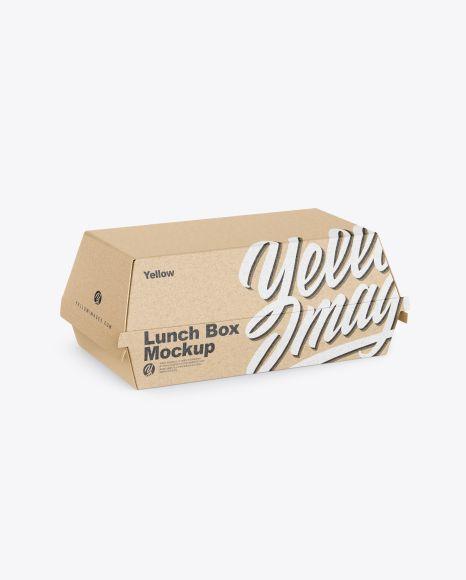 Download Kraft Lunch Box Mockup In Box Mockups On Yellow Images Object Mockups Box Mockup Mockup Free Psd Mockups Templates