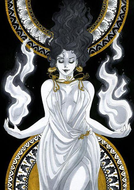 Hestia Neithy Greek Goddess Art Greek Mythology Art