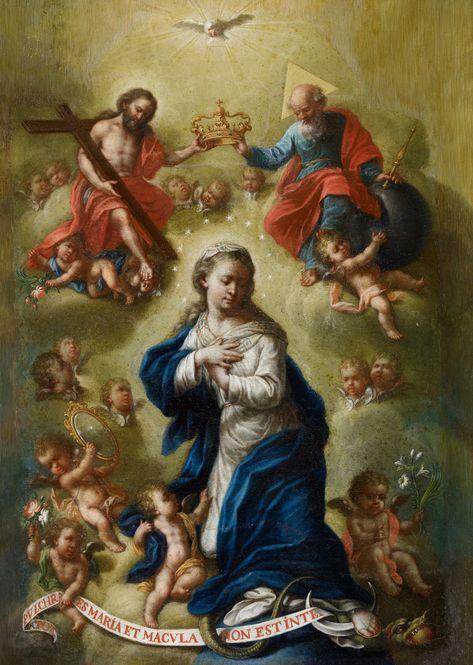 Bernardo German Llorente La Coronacion De La Virgen S F