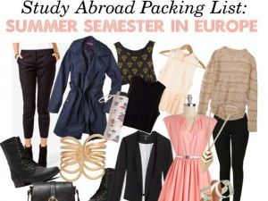 Study Abroad Packing List: Summer Semester in Europe