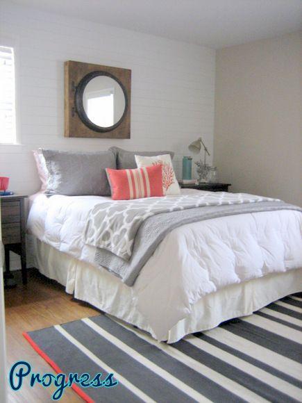 Rookiediy Gallery Wall Diy Playbook Coral Bedroom Grey Bedroom With Pop Of Color Home Bedroom