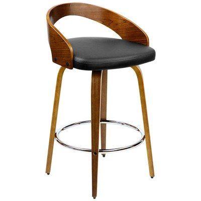 Enjoyable Black Faro Faux Leather Bentwood Barstools Condo Kitchen Dailytribune Chair Design For Home Dailytribuneorg