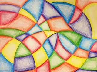 Abstract Colored Pencil Drawing From Buford High School With
