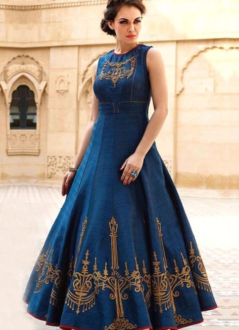 Buy Beautiful Blue Party Wear Gown at Indian Dresses #partydress #dresses #dress