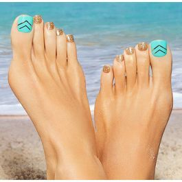 Get A Pedi That Looks Natural With New Impress Press On Pedicure From Kiss Products Super Easy To Apply These 1 Toe Nail Designs Toe Nails Acrylic Toe Nails