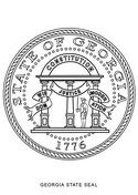 Georgia State Seal Coloring Page Coloring Pages State Symbols