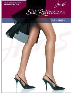 Hanes Silk Reflections Non-Control Top, Reinforced Toe Pantyhose 4-Pack....great value!!